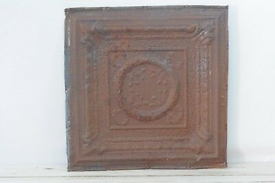 Antique Pressed Tin Ceiling Tile Decorative Metal Ceiling Wall Art Salvage #3