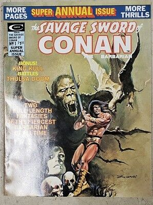 * Savage Sword of CONAN Annual 1 (NM 9.2) Barry Smith ORIGINAL OWNER Collection