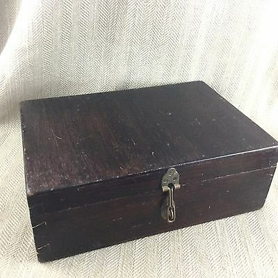 Antique Wooden Box Antique Jewelry Jewellery Hand Made Chest Vintage