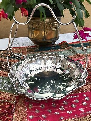 Beautiful Antique Vintage Mappin & Webb Silver Plated Cake Stand