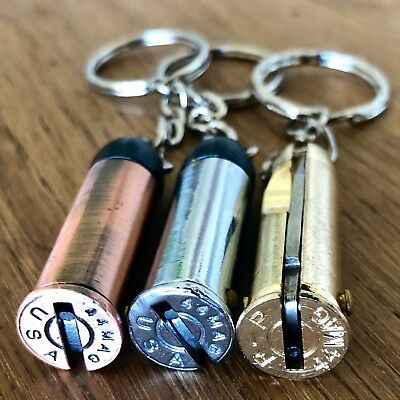 Bullet Knife Best Camping Pocket Knife keyring folding gun bullet keychain Knife