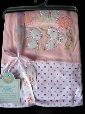 Baby Girls Snuggle Blanket 100% Cotton nwt