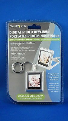 One World Lifestyle Essentials NEW Digital Photo Keychain