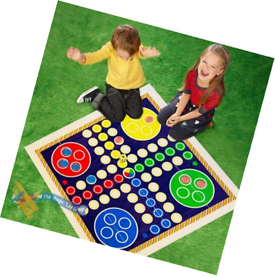 Giant Snakes and Ladders or Ludo Play Mat Board Traditional Childrens Game (Ludo