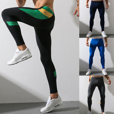 619f78d01b2 Men Print Cotton Breathable Sports Leggings Thermal Long Jogging Fit Pants  XI