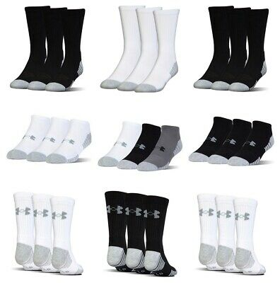 Under Armour No Show Mens Womens Socks Crew Ankle Low Golf Sports