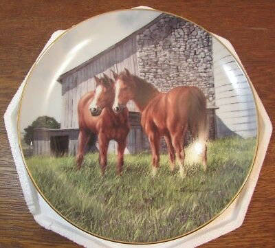 VINTAGE THE YEARLINGS  HORSE  Collector Plate DANBURY MINT