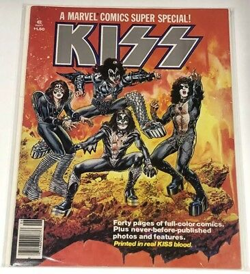Kiss 1977 Marvel Comics Super Special issue 1 in VF-NM condition.