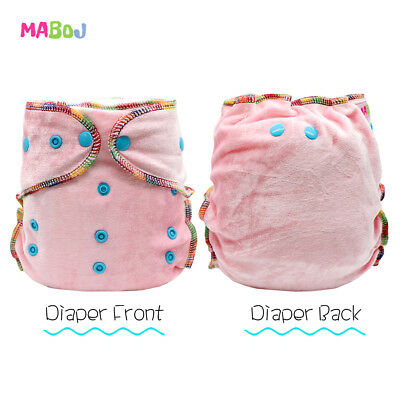 MABOJ Fitted Diapers Bamboo Baby Cloth Diaper Washable and Waterproof Baby Nappy
