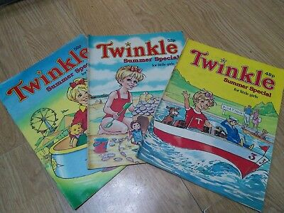 Bundle of 3 Vintage Twinkle Summer Special Comics 1985, 1986, 1987