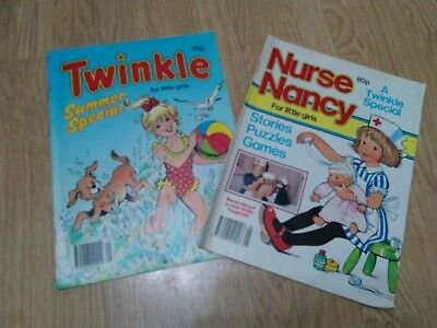 Bundle of 2 Vintage Summer Special Comics 1990. Twinkle and Nurse Nancy.