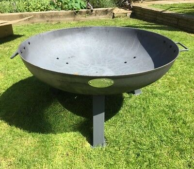 Large Garden Fire Pit Outdoor Patio Camping Cast Iron Bowl Log Burner Heater
