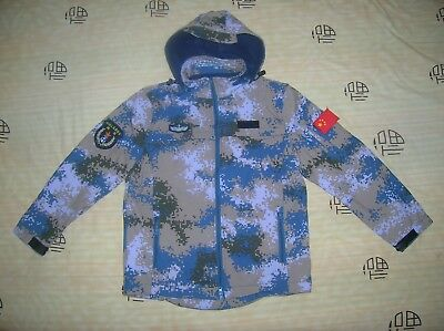 07's series China PLA Navy Ocean Digital Camo Winter Technical Jacket,B