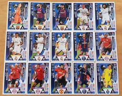Topps Match Attax Champions League UCL 2019 15 x Title Winners cards