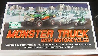 NIB 2007 Hess Monster Truck with Motorcycles