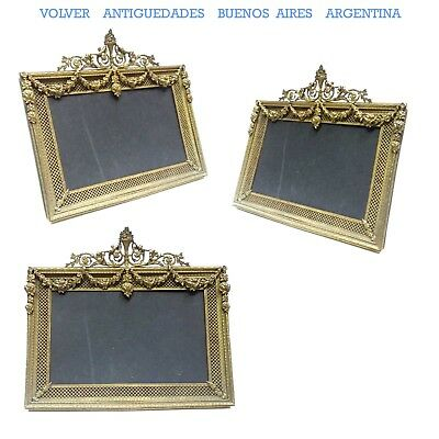Beautiful & rare rectangular shape antique bronze french picture frame 9 ´´ x  9