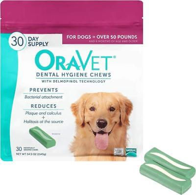 Dog Teeth Dental Hygiene Chews Merial Oravet Removes Plaque Bad Breath Cleans