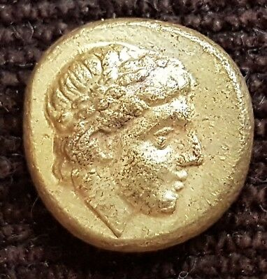 Very Rare Greek Gold Coin El Hekte 1/6 Stater , Ionia Phokaia 2.52 g.