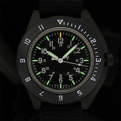 US Military Issue Pilot Navigator Aviation Sterile Dial Watch Marathon New H3