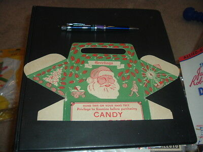 1920's Leader Novelty Candy and Toy Co Santa Claus Display Box Christmas Unused