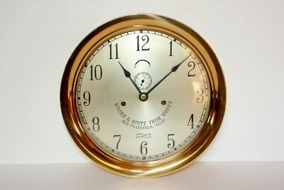 "Antique Seth Thomas Ships Lever Clock Large 12""  Circa 1905"