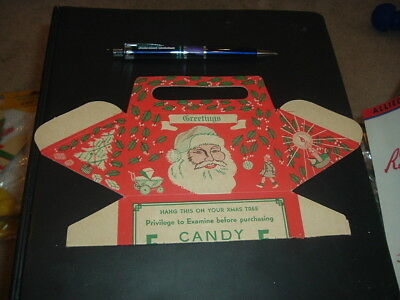 1920's Leader Novelty Candy and Toy Co. Santa Claus Display Box Christmas Unused
