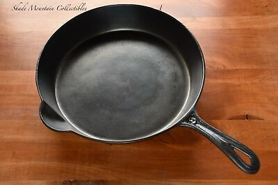 Antique Cast Iron Skillet #9 Single Lip/Spout Gate Mark FULLY RESTORED Pre 1900