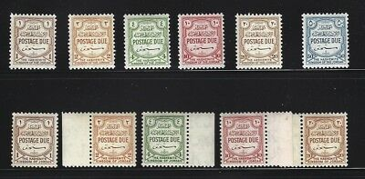 Jordan British Period 2 Mnh Postage Due Sets Scott J53-8 + J 59-63