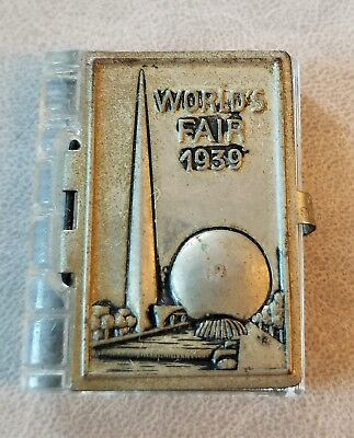 NEW YORK WORLDS FAIR 1939 OFFICIAL glass mini BOOK VINTAGE