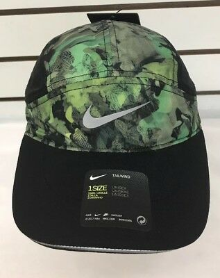 f470fbf6ea7 NIKE AEROBILL UNISEX Running Hat Green Camouflage Tailwind Cap ...