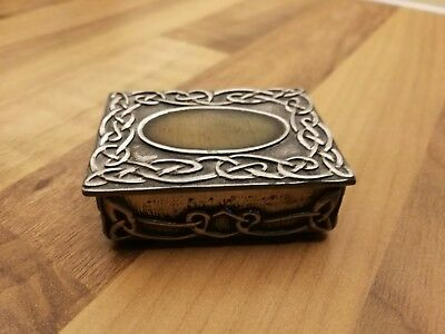 Open Ocean Pewter Trinket box with Celtic Knotwork
