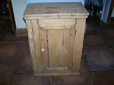 Original Victorian Pine Wall Cupboard