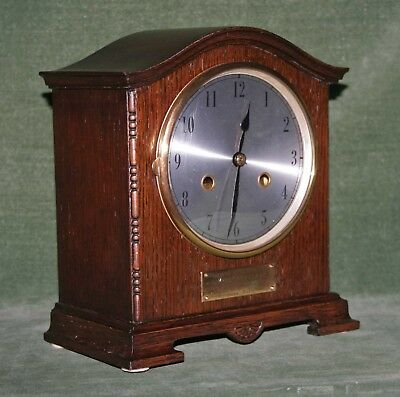 Lovely Striking Mantle Clock circa 1925 with Plaque to Mary Issac