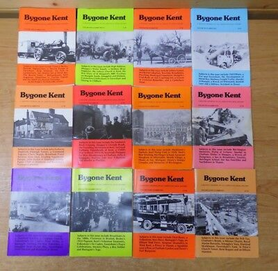 12 x Bygone Kent -  Local History Journals from Volumes 9,10,11 - Job Lot H