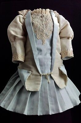 """CG Finest Doll Dress for app 19""""-20"""" Antique Doll Hand Pleated for Jumeau"""