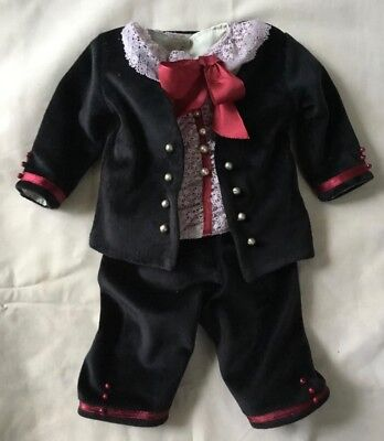 CG Doll Clothing 2 Piece Boy Doll Suit for 19in- 20in Antique Doll Antique Lace