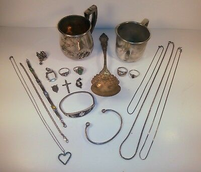 Mixed Lot 925 Sterling Silver for Scrap or Use 305 Grams