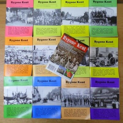 13 x Bygone Kent -  Local History Journals from Volumes 24,25,26,30 - Job Lot M