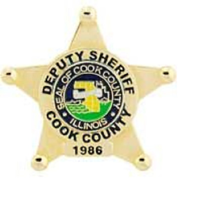 Cook County Sheriff Deputy Officer Badge Lapel Pin, Chicago Police, Biker Pins