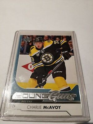 2017-18 17-18 Ud Series 1 Charlie Mcavoy Young Guns Rookie Rc #242