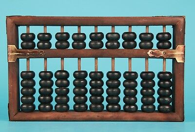 Unique Collection Old Chinese Wood Abacus Hand-Carved Arithmetic Tools
