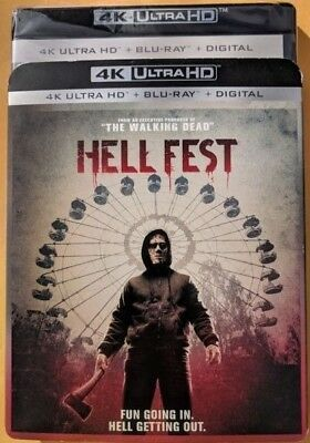 New 2018 Hell Fest  4k ULTRA HD & Blu-ray blue NO DIGITAL Horror/Suspense Movie