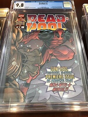 Deadpool (1997) #1 CGC 9.8 NM/MT Blue Label White Pages Joe Kelly Ed McGuinness