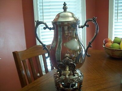 Antique silver coffee/tea holding container (Huntington country club) trophy