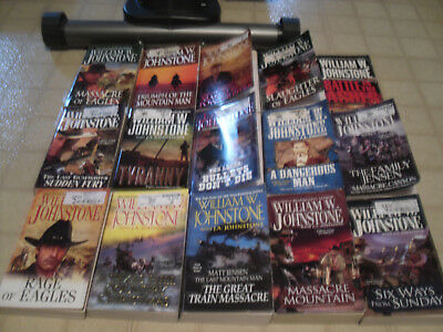 Lot of 15 Paperback Westerns by William W. Johnstone...All in VGC...