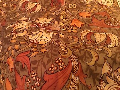 1 and 3/4 YARDS OF SANDERSONS WILLIAM MORRIS GOLDEN LILY FABRIC
