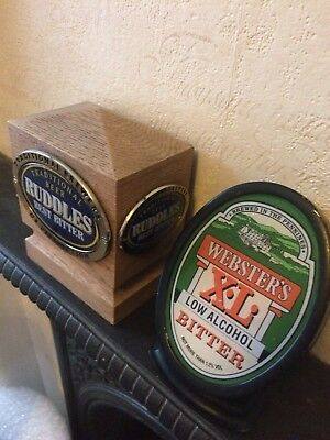 Ruddles & Websters Pub Bar Font Beer Ale Pump Light Signs Vintage
