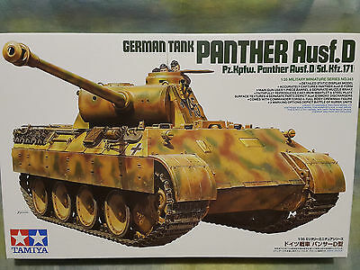 Tamiya 1/35 German Tank Panther Ausf.D Sd.Kfz.17 Military Model Tank Kit #35345