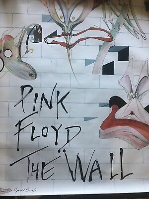 Pink Floyd The Wall Gerald Scarfe Artwork Rare Movie Version Promo Poster 1979