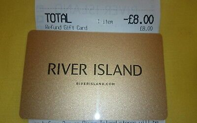 River Islan £8 Gift card Issued December 2018 New and unscratched